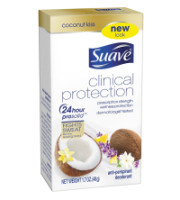 Suave Clinical Protection Antiperspirant Deodorant, Coconut Kiss 1.7 oz [079400561251]