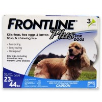 Frontline Plus Flea & Tick Control For Medium Dogs, 22-34 lbs 3 ea [350604287100]