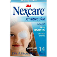 Nexcare Sensitive Skin Junior Size Eye Patch 14 ea [051131211858]