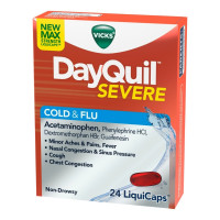 Vicks DayQuil Severe Cold & Flu Relief LiquiCaps, 24 ea  [323900039513]