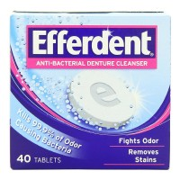 Efferdent Anti-Bacterial Denture Cleanser Tablets 40 ea [814832010010]