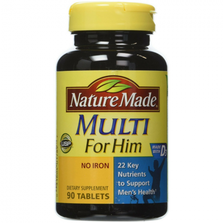 Nature Made Multi For Him Tablets 90 Tablets [031604017897]