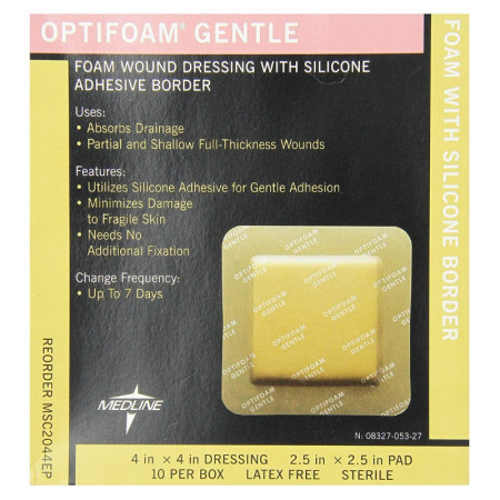 Medline  Optifoam Gentle Border Adhesive Dressings 1 ea [884389118941]
