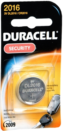 Duracell Lithium Battery Security 3 Volt 2016 1 Each [041333101101]