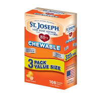 St. Joseph Low Dose Chewable Aspirin Multi Pack, 108 ea [816526010757]