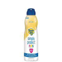 Banana Boat Simply Protect Kids Tear-Free Broad Spectrum Sunscreen Spray with SPF 50, 6 oz [079656024500]