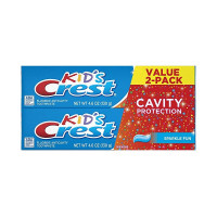Crest 2-Pack Cavity Protection Toothpaste for Kids, Sparkle Fun Flavor, 4.6 oz [037000710066]