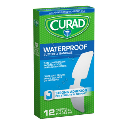 Curad Waterproof Butterfly Bandages 12 ea [080196320830]