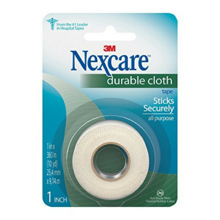 Nexcare Durable Cloth Tape 1 Inch 10 Yards [051131653016]