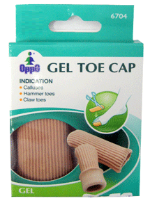 Oppo Gel Toe & Finger Cap, Medium [6704] 2 Pack [4711769145876]