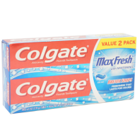 Colgate MaxFresh Fluoride Toothpaste 6 oz, Twin Pack, Cool Mint 2 ea [035000760074]