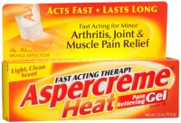ASPERCREME Heat Pain Relieving Gel 2.50 oz [041167057407]