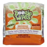 Boogie Wipes Gentle Saline Wipes, Fresh 90 ea [816167011397]
