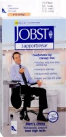 JOBST SupportWear Socks Men's Dress Knee High Mild Compression 8-15mmHg Black X-Large Close-Toe 1 Pair [035664107833]