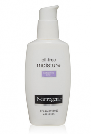 Neutrogena Oil-Free Moisture Facial Moisturizer, Sensitive Skin 4 oz [070501054000]