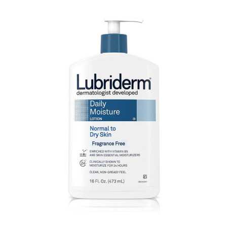 Lubriderm Daily Moisture Lotion Fragrance Free, 16 oz [052800488564]