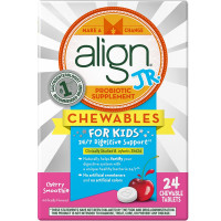 Align Jr. Probiotic Supplement Chewables Tablets For Kids, Cherry Smoothie 24 ea [037000961727]