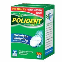 Polident Overnight Whitening, Antibacterial Denture Cleanser, Triple Mint Freshness 120 ea [310158034490]
