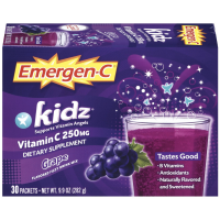 Emergen-C Kidz Flavored Fizzy Drink Mix, Grape 30 ea [076314304066]
