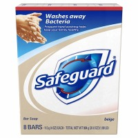 Safeguard Antibacterial Hand Bar Soap, 4 oz bars, 8 ea [037000218548]
