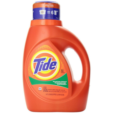 Tide 2X Ultra Laundry Detergent, Mountain Spring 50 oz  [037000138990]