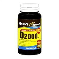 Mason Natural D 2000 IU Softgels Ultra Strength 300 Soft Gels [311845150103]