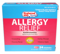 Allergy Relief  Antihistamine Minitabs 24 ea [359726690249]