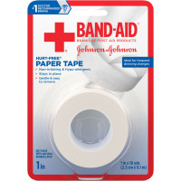 JOHNSON & JOHNSON BAND-AID First Aid Paper Tape 1 Inch X 10 Yards [381371161539]