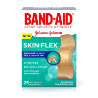 BAND-AID Flexible Bandages Skin Flex, All One Size 25 ea [381371171262]