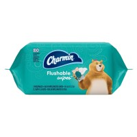 Charmin Fresh Mates Flushable Wipes Refill, Twin Pack, 80 ea [037000237563]