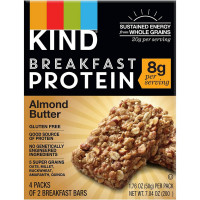 Kind Breakfast Protein Bars, 1.76 oz bars, Almond Butter 8 ea [602652204005]