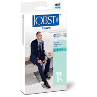 JOBST SupportWear Socks For Men Knee High 8-15 mmHg Black Medium 1 Pair [035664103026]