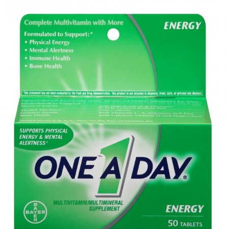 One-A-Day All Day Energy Tablets 50 Tablets [016500525868]