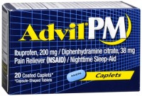 Advil PM 200 mg Coated Caplets 20 Caplets [305730164207]