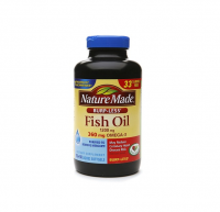 Nature Made Burp-Less Fish Oil 1200mg, 360mg Omega-3, Liquid Softgels 200 ea [031604026578]