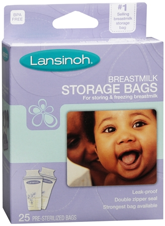 Lansinoh Breastmilk Storage Bags 25 Each [044677204200]