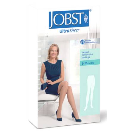 JOBST Ultra Sheer Knee High Stockings, Silky Beige, 8-15 mmHg Large 1 Pair [035664193300]