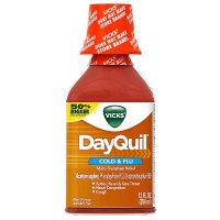 Vicks Dayquil Cold & Flu Multi-Symptom Relief Liquid 12 oz [323900014367]