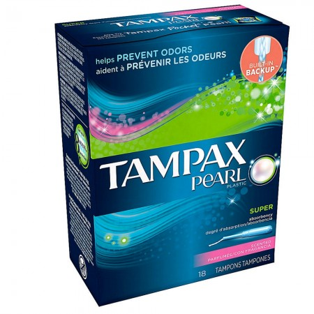 Tampax Pearl Tampons Super Fresh Scent 18 ea [073010378537]