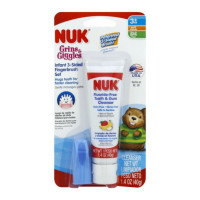 NUK Infant Tooth & Gum Cleanser, Apple & Banana Flavor 1.40 oz [885131931207]