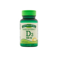 Nature's Truth Vitamin D3, 400 IU, 100 ea [840093106186]