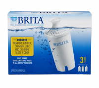 Brita Water Pitcher Replacement Filters, White 3 ea [060258355031]