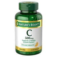 Nature's Bounty Vitamin C 500 mg, 250 Tablets [074312014741]