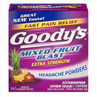 Goody's Extra Strength Headache Powders, Mixed Fruit Blast 24 ea [042037108458]
