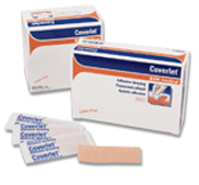 "Coverlet 3/4"" x 3"" Fabric Adhesive Bandages, Strips 100 ea [035664002305]"