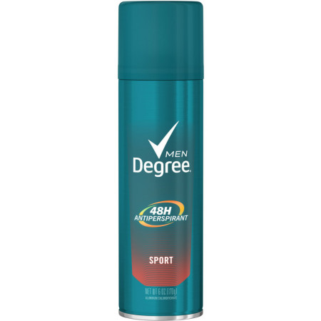 Degree Sport Aerosol Antiperspirant Deodorant, 6 oz [079400242907]