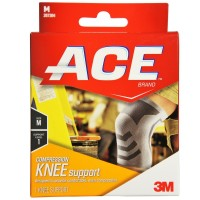 ACE Compression Knee Support Medium 1 ea [051131198173]