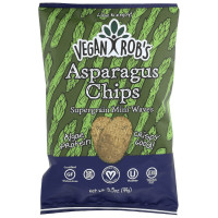Vegan Rob's Supergrain Mini Waves, Asparagus Chips 12 Bags 3.5 oz [816678020222]