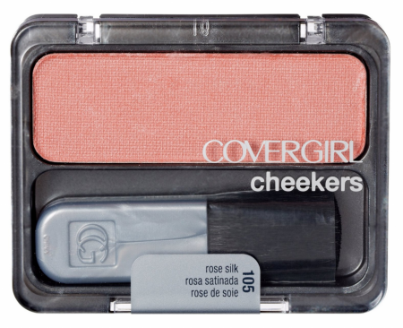 Cover Girl Cheekers Blush, Rose Silk [105], 0.12 oz [061972053517]
