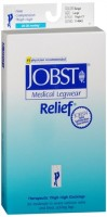 JOBST Medical LegWear Thigh High 20-30 mmHg Firm Compression Large Beige Close-Toe 1 Pair [035664146429]